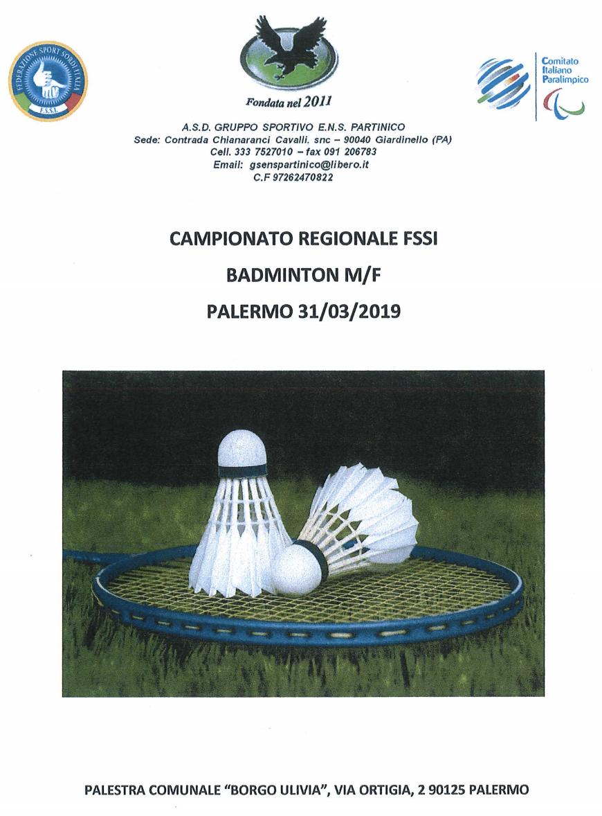 BADMINTON – Campionato Regionale  cb847bb933b3b