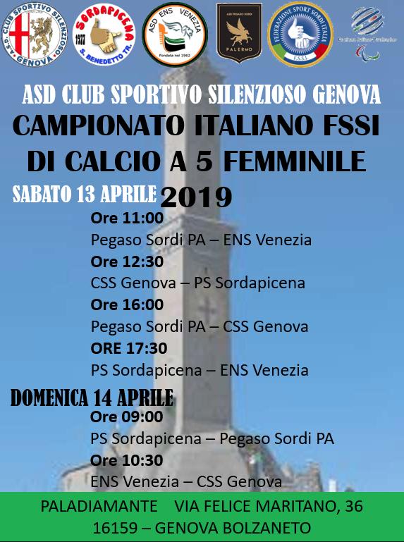 Calendario Modena Calcio.Fssi Calendario Attivita Fssi 2018 2019