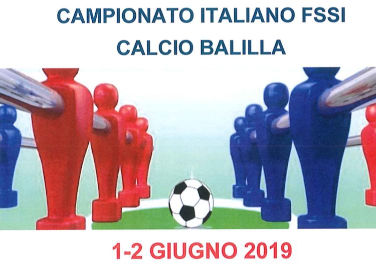 1-2 Giugno, Porto Fuori (RA). Campionato FSSI di Calcio Balilla