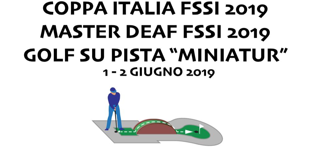 1-2 Giugno, Novi ligure (AL). Campionato FSSI di Golf su Pista MasterDeaf e Coppa Italia