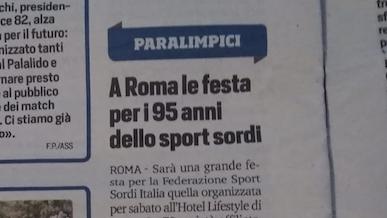 A Roma la festa per i 95 anni dello sport sordi