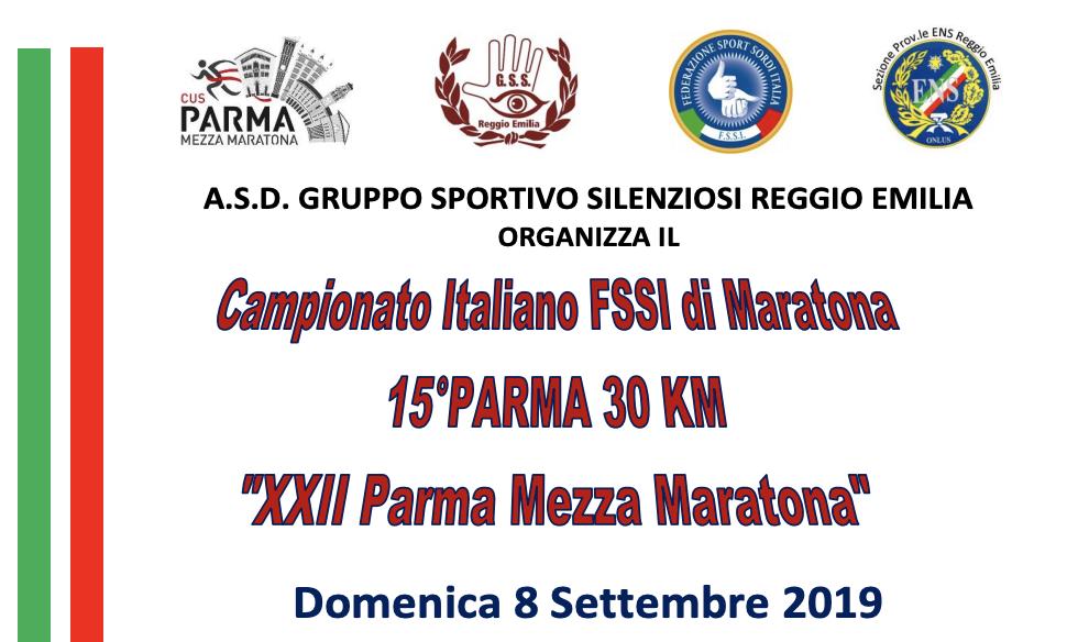 8 Settembre, Parma (PR). Campionato FSSI di Atletica Leggera Maratona 30km