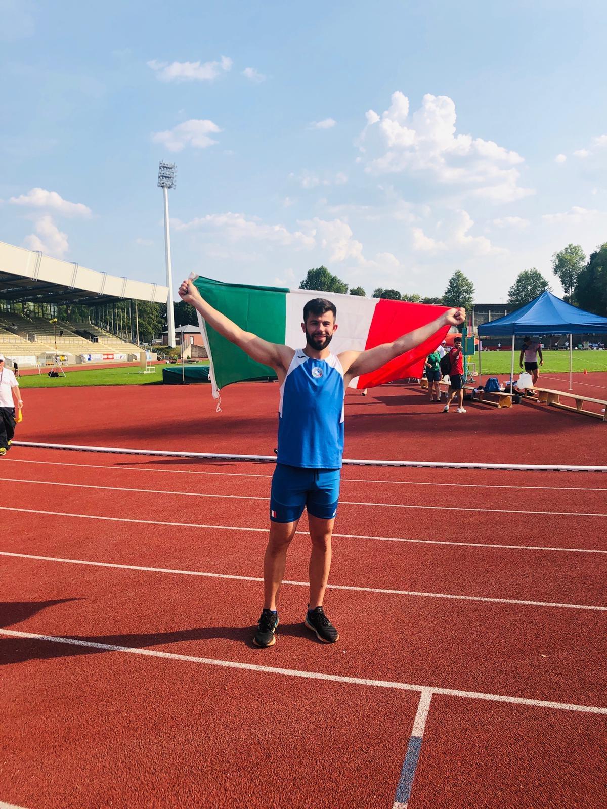Matteo Masetti è d'oro nel lancio del giavellotto agli Europei di atletica leggera sordi