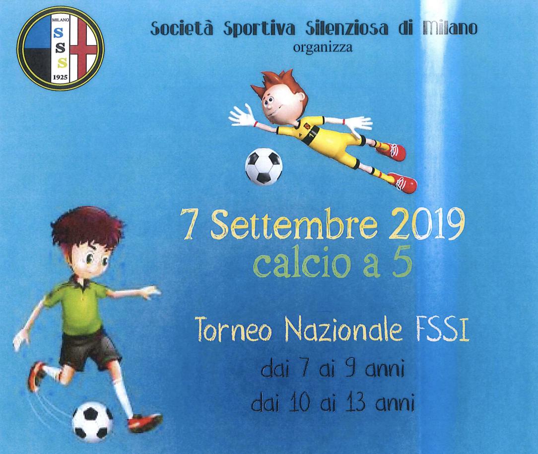 7 Settembre, Milano. Torneo Nazionale di Calcio A5 (7-9 e 10-13 anni)