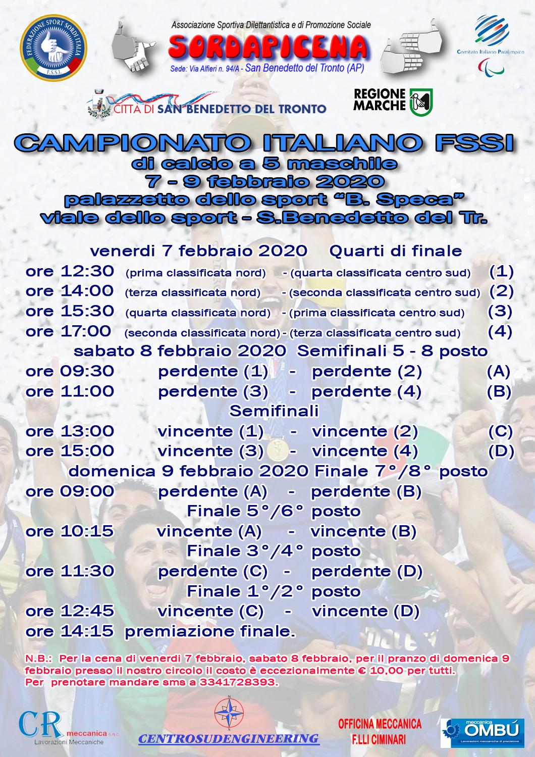 7-9 Febbraio, San Benedetto del Tronto. Final Eight FSSI di Calcio A5