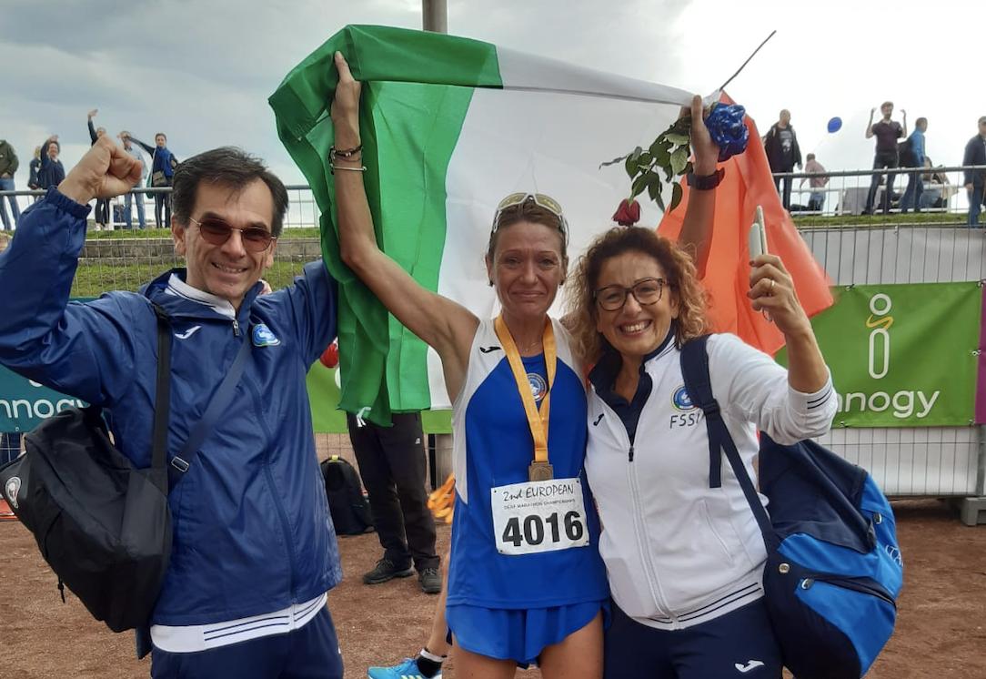 Cristina Gogna è medaglia di bronzo agli Europei di Maratona Sordi di Essen (Germania)
