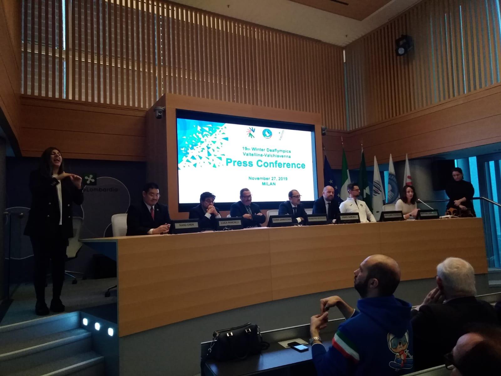 """Presentate a Milano le 19th Winter Deaflympics. Il Presidente Guido Zanecchia: """"Una grande sfida che abbiamo vinto"""""""