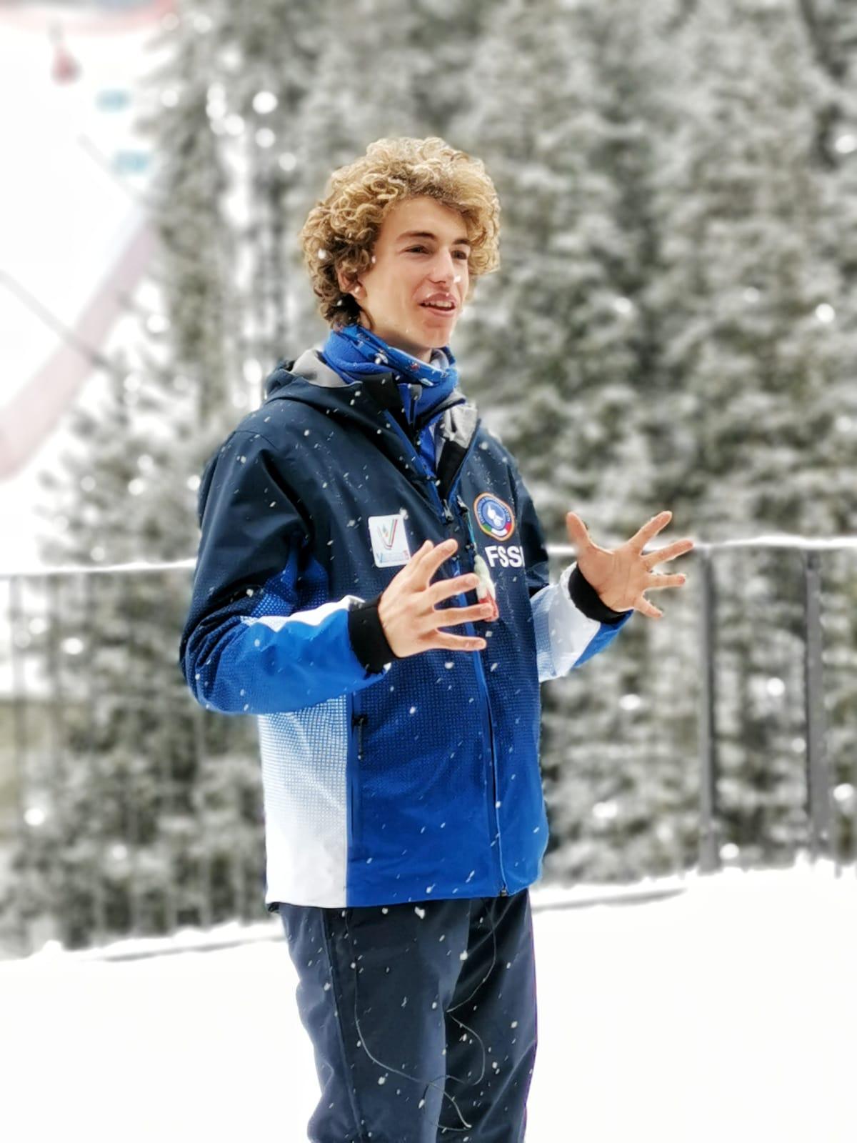 Luca Zennaro, il volto nuovo della FSSI nello Sci Alpino: domani il debutto del 15enne in Slalom Gigante