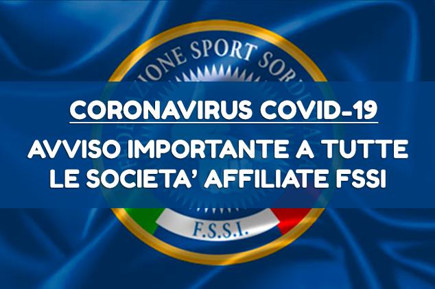 Sospensione Attività Sportiva Nazionale FSSI fino al 3 Maggio