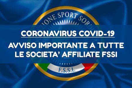 Sospensione Attività Sportiva Nazionale FSSI fino al 31 Maggio