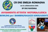 Modena, 19 Giugno. Bowling per bambini, ragazzi sordi e udenti